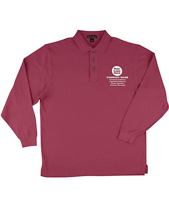 Long Sleeve Polo Embroidered
