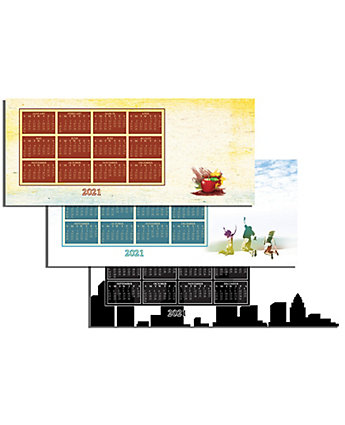 Digital Magnet Calendar Horizontal