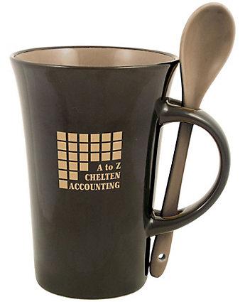 Latte Spoon Mug 12 oz
