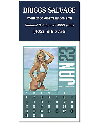 Swimsuit Stick Up Calendar