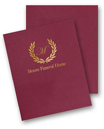 Fast Folders Linen Foil Stamp