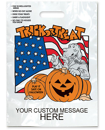 Mcgruff Flag Halloween Bag 11X15