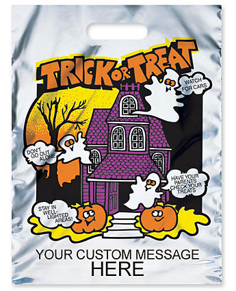 Metallic Haunted House Bag 11X15