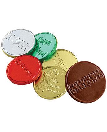 "1.5"" Belgian Choc Embossed Coins"
