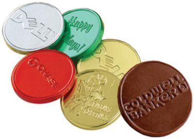 Belgian Chocolate Embossed Coins