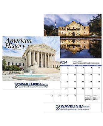 American History Calendar-Stapled