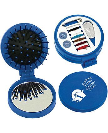 3 In 1 Sewing Kit, Brush & Mirror