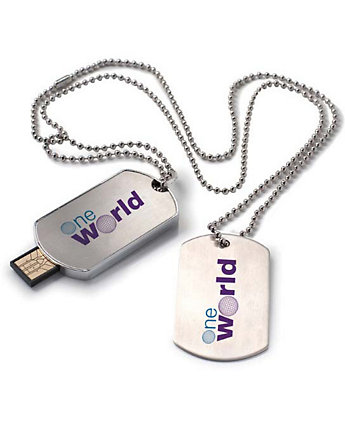 Dog Tag USB 2.0 Flash Drive 2Gb
