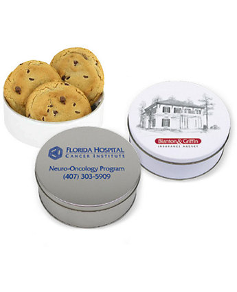 6Oz Gourmet Choco Chip Cookie Tin