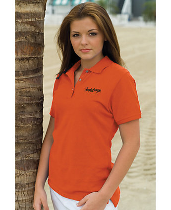 Polo Cotton Pique Embroidered Women