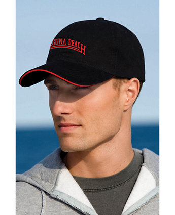 Cap W/Sandwich Visor Embroidered