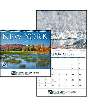 New York Wall Calendar Spiral