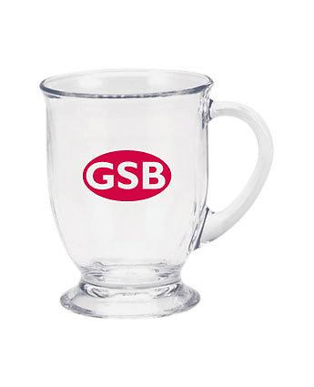 Clear Glass Cafe Mug 16 oz