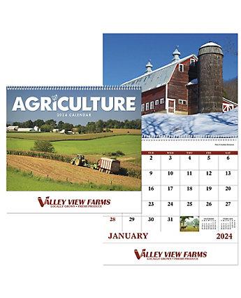 Agriculture Wall Calendar Spiral