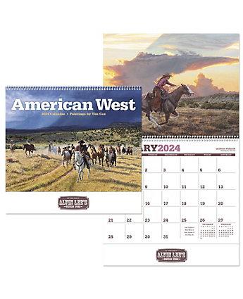 American West Wall Calendar Spiral