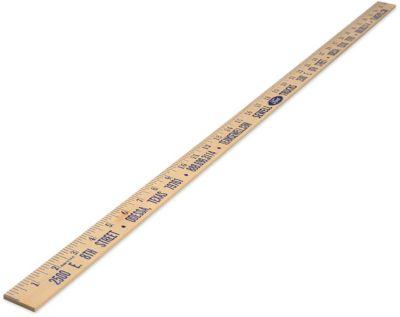 natural finish wooden yardstick