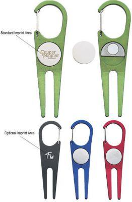 Aluminum Divot Tool And Ball Marker