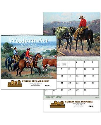 Western Art Spiral Wall Calendar