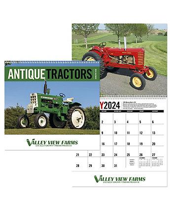 Antique Tractors Spiral Calendar