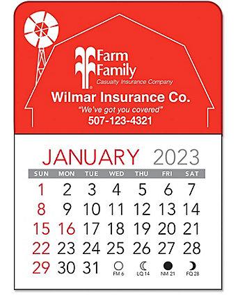 Barn Vinyl Adhesive Calendar