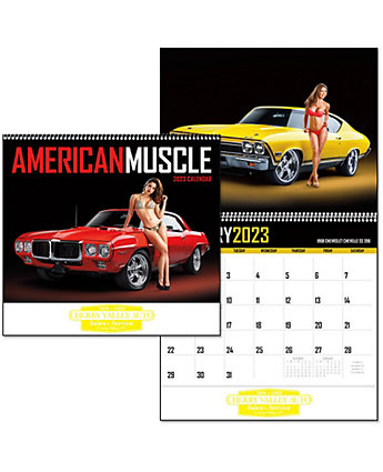 American Muscle Wall Calendar Sprl