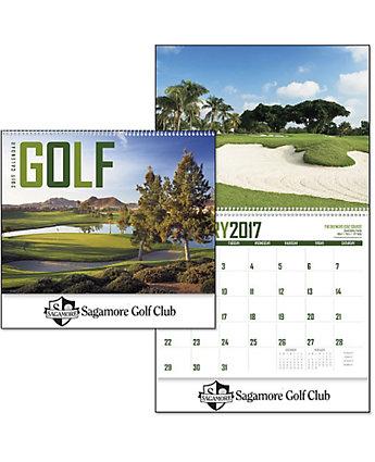 Golf Wall Calendar Spiral