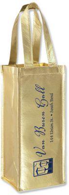 Metallic Gift Bag fits Wine Bottle
