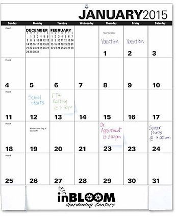 Adhesive Note Monthly Pad Calendar