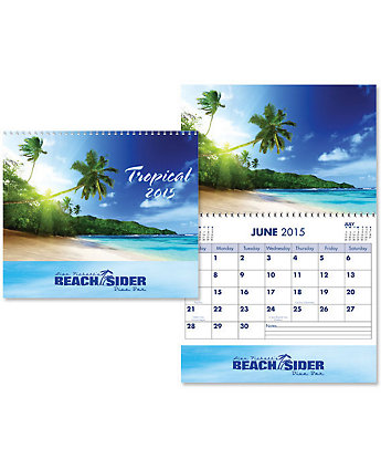 Budget Plus Wall Calendar Tropical