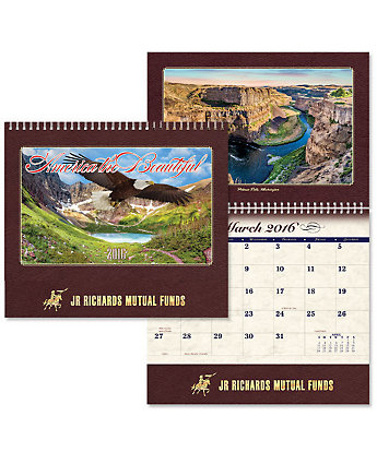 Luxe Calendar America Spiral