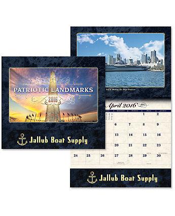 Luxe Calendar Patriotic Landmarks
