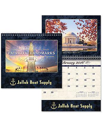 Luxe Calendar Patriotic Landmk Sprl
