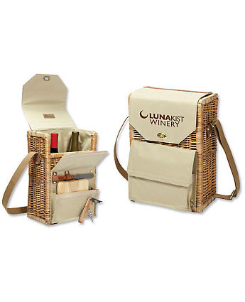 Wine And Cheese Willow Basket Set
