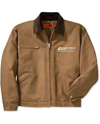 Work Jacket Duck Cloth Embroidered