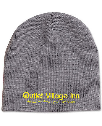 Knit Beanie Embroidered