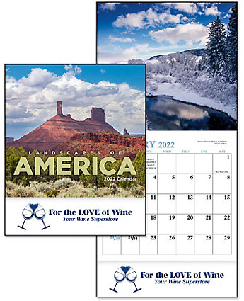 Landscapes Of America Mini Wall Cal