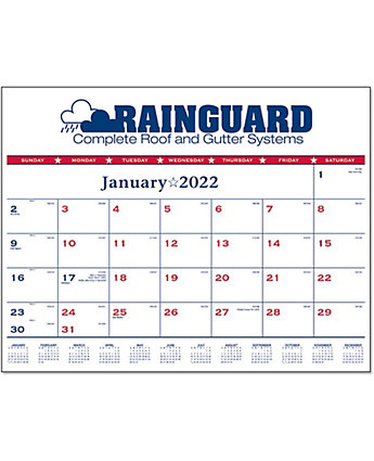 Patriotic Desk Pad Calendar