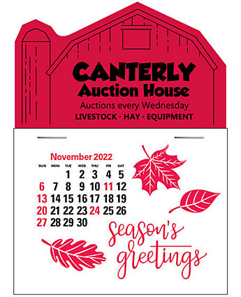 Barn Press-N-Stick Calendar