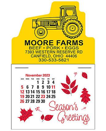 Tractor Press-N-Stick Calendar