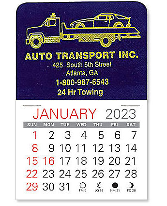 Flatbed Tow Truck Stick Calendar