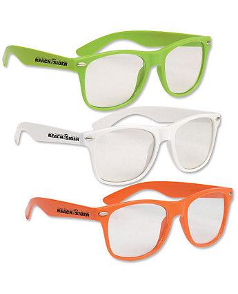 Clear Malibu Glasses
