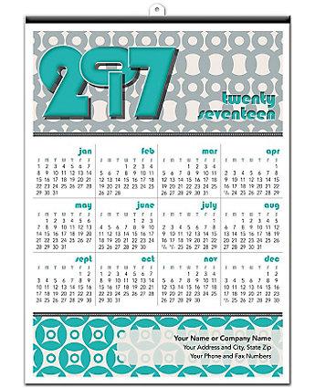 Geometric Poster Calendar 18X25