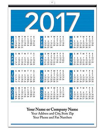Contractor Poster Calendar 18X25