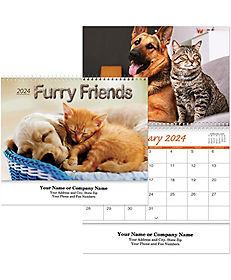 CATS & DOGS WALL CALENDAR SPIRAL