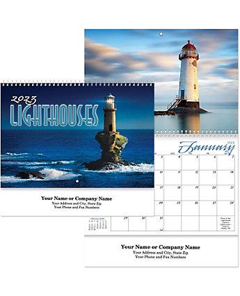 Lighthouses Wall Calendar Spiral