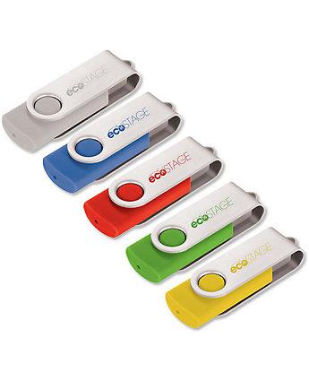 USB 4Gb Rotate Silver Clip