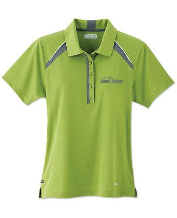 Quinn short sleeve womens polo shirts amsterdam printing for Screen printed polo shirts