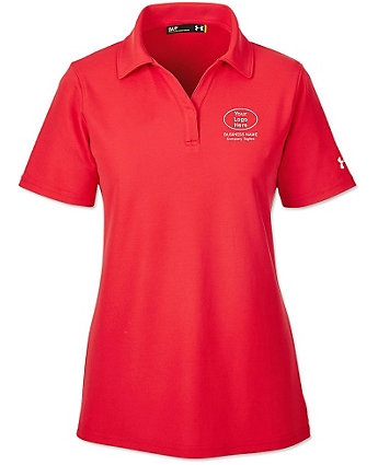 Embroidered Under Armour Ladies Performance Polo Shirt