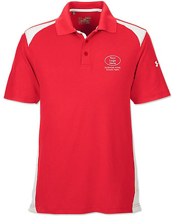 Under armour mens embroidered colorblock polo shirt for Under armour embroidered polo shirts