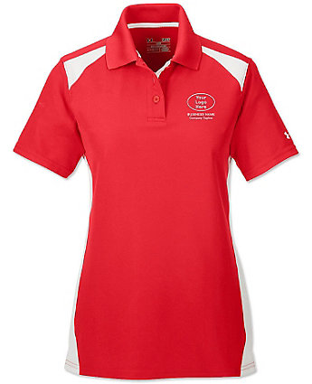 Under armour ladies embroidered colorblock polo shirts for Under armour embroidered polo shirts
